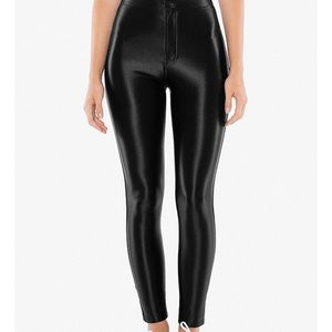 American apparel high waisted shiny leggings Small